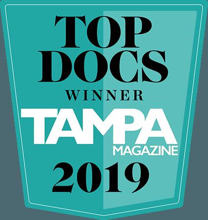 Top Doctor Winner 2019 - Tampa Magazine